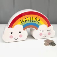 Children's Personalised Rainbow Money Box