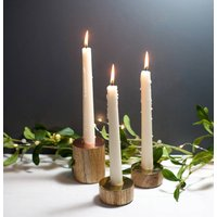 Gold, Copper And Wood Candle Holders, Gold/Copper
