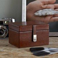 Leather Stud Keepsake Box
