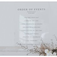 Elegance Acrylic Order Of The Day Sign