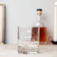 Dad Personalised Whiskey Glass