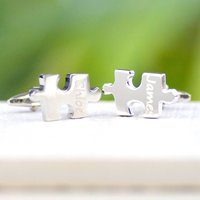 Personalised Jigsaw Piece Cufflinks