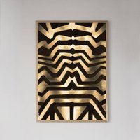 Black And Gold Genesis Framed Print