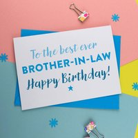 Best Brother In Law Birthday Card