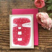 Lighthouse Valentine's Day Card