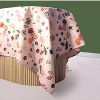 Miami Shells Oilcloth Tablecloth