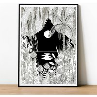 Moonlight In The Jungle Print