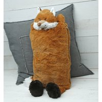Fox Cover And Hot Water Bottle With Engraved Heart