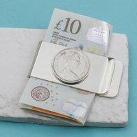 50th Birthday 1969 Five Pence 5p Money Clip