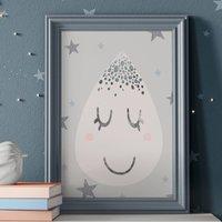 Scandi Raindrop, Children's Nursery Print