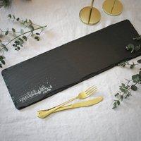 Christmas Village Long Slate Serving Platter