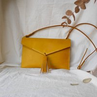Statement Leather Tassel Cross Body Bag