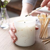 Zodiac Birthday Candle With Personalised Message