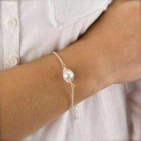 Wrapped Pearl Silver Bracelet, Silver