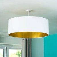 Oversize Gold Lined Ceiling Pendant Shade 40 Colours, Black/White/Orange