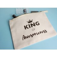King Of Awesomeness Toiletry Bag