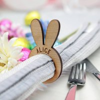Personalised Bunny Napkin Ring