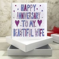 Personalised Wife Anniversary Book Card