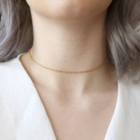 Rope Chain Choker Necklace