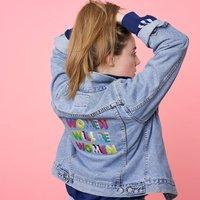 Women Will Be Women Hand Embroidered Denim Jacket