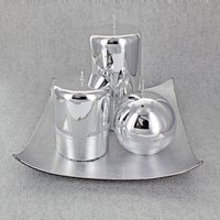 Silver Glass Effect Candle