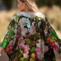 Blossom Print Lightweight Viscose Kimono Top