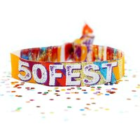 50 Fest 50th Birthday Party Festival Wristbands