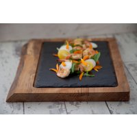 Wood And Slate Platter