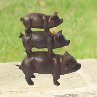 Country Pig Cast Iron Garden Decoration