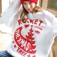 Rocket Around The Christmas Tree Women's Jumper