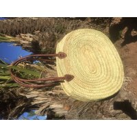Palm Leaf Oval Handbag Or8