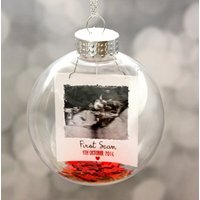 Personalised Baby Scan Christmas Bauble