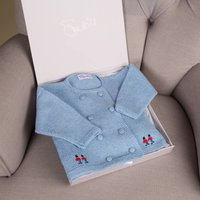 Hand Embroidered Cashmere Soldier Cardigan
