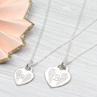 Personalised Silver Or 18ct Gold Angel Wing Necklace, Silver