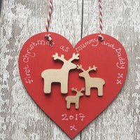Personalised 1st Christmas As A Family Decoration