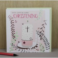 Christening Card For A Girl