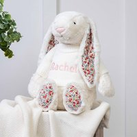 Personalised Blossom Cream Bunny Large Soft Toy