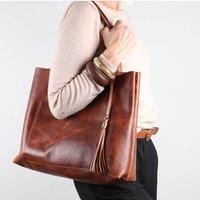 Erin Leather Tote Handbag