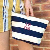 Personalised Birth Year Make Up Bag