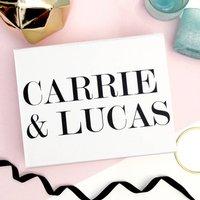 Personalised Bride And Groom Name Wedding Gift Box