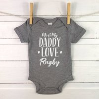 Me And My Daddy Love ... Personalised Babygrow