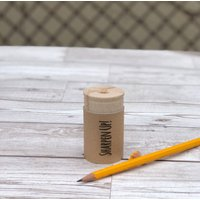 Personalised Wooden Pencil Sharpener