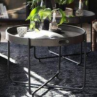 Slim Legged Metal Tray Table