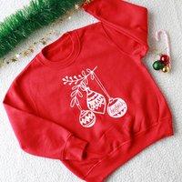 Personalised Bauble Christmas Kid's Jumper