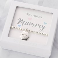 Personalised Bracelet For Mummy With Birthstone