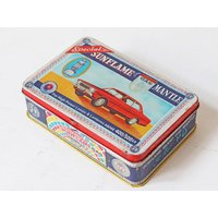 Old Car Storage Tin