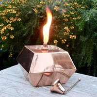 Square Copper Tabletop Oil Lantern