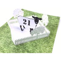 Personalised Name And Age Pop Up Sheep Birthday Card