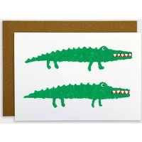 Crocodiles 'Two By Two' Card