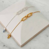 Silver Cube Bracelet, Silver